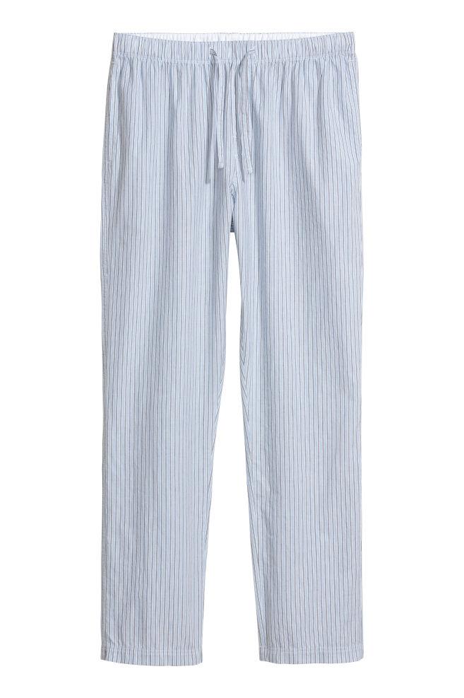 Pajama Pants - Light blue white striped - Men  ee913d512