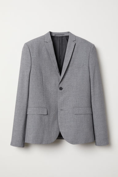 Jacket Skinny fit - Grey marl - Men | H&M CN