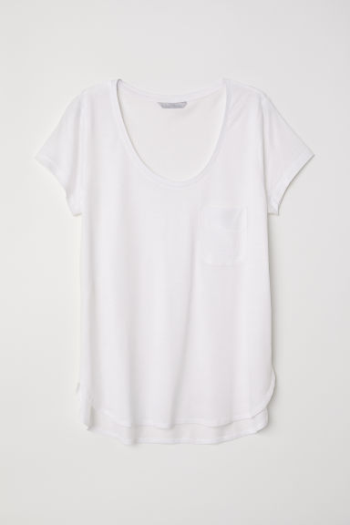 Jersey top - White -  | H&M CN