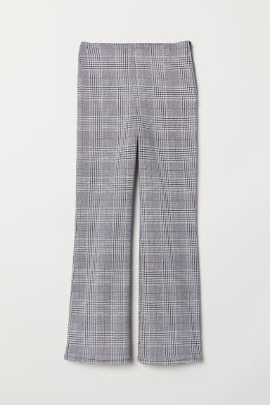 Ankle-length trousers - Grey/Dogtooth - Ladies | H&M