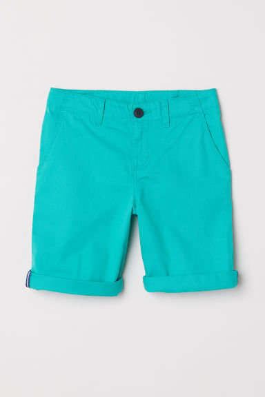 Chino shorts - Bright green - Kids | H&M CN
