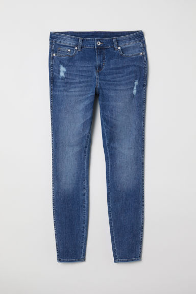 H&M+ Skinny Regular Jeans - Denim blue/Trashed -  | H&M CN