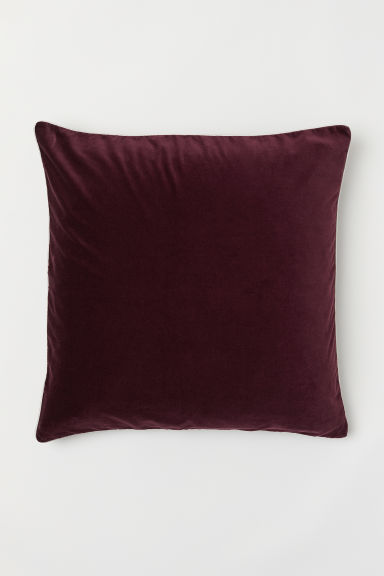 Cotton velvet cushion cover - Burgundy - Home All | H&M CN