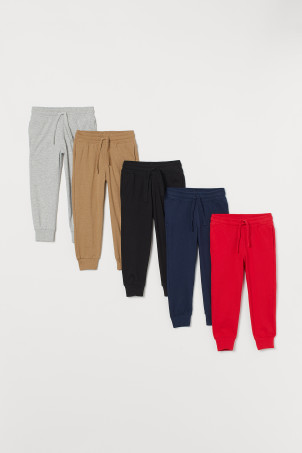 5-pack joggers i bomull
