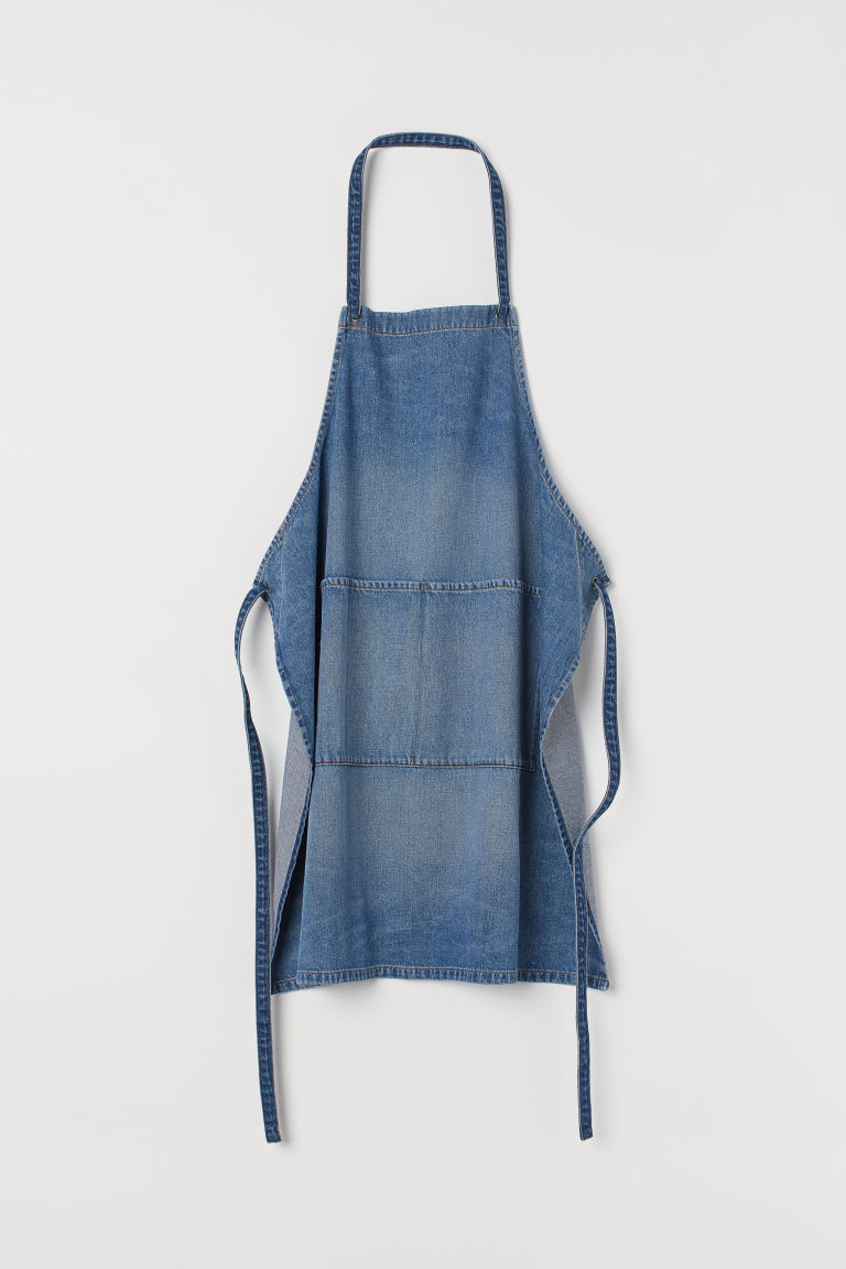Denim Apron - Light denim blue - Home All | H&M CA