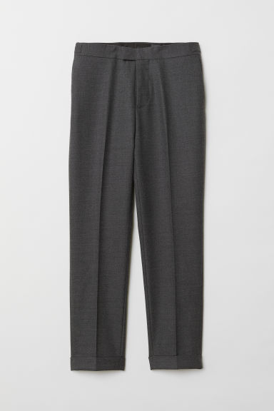 Wool-blend trousers Slim Fit - Dark grey - Men | H&M CN