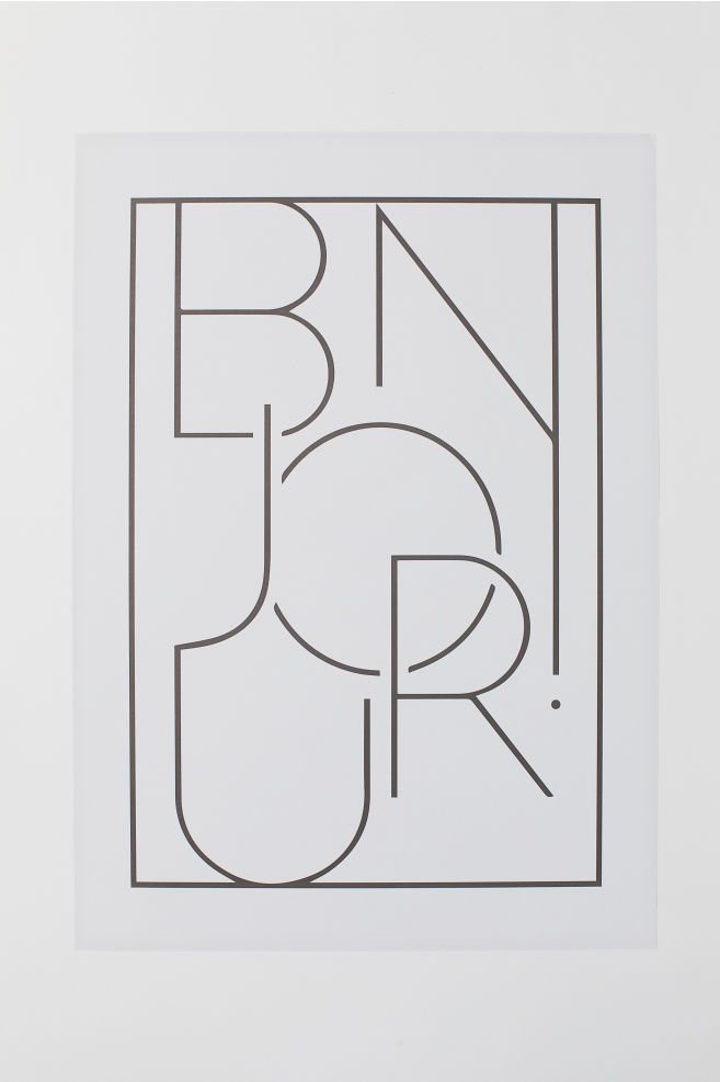 8a5668feeaeb7 Постер - Светло-бежевый/Bonjour - HOME | H&M ...
