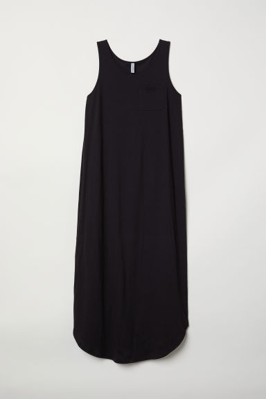 Jersey maxi dress - Black -  | H&M CN