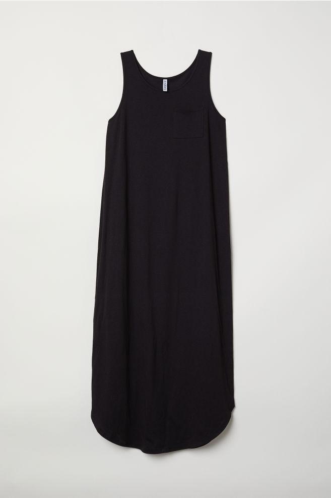 Jersey Maxi Dress Black Ladies Hm Us