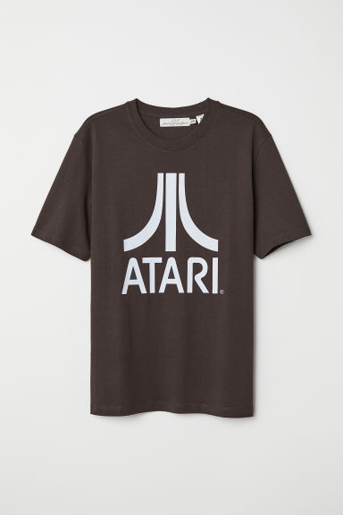 Printed T-shirt - Black/Atari - Men | H&M
