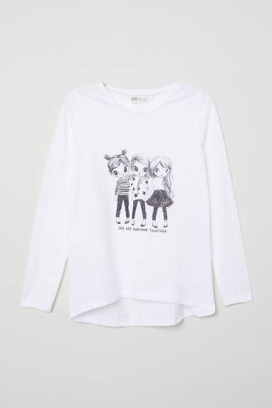 Top with a motif - White/Friends - Kids | H&M