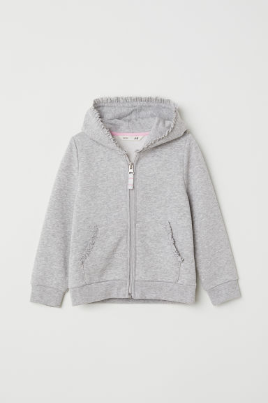 Hooded jacket - Grey marl - Kids | H&M