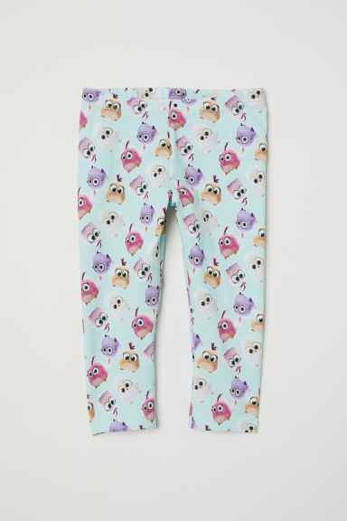 Ankle-length leggings - Light turquoise/Angry Birds -  | H&M CN