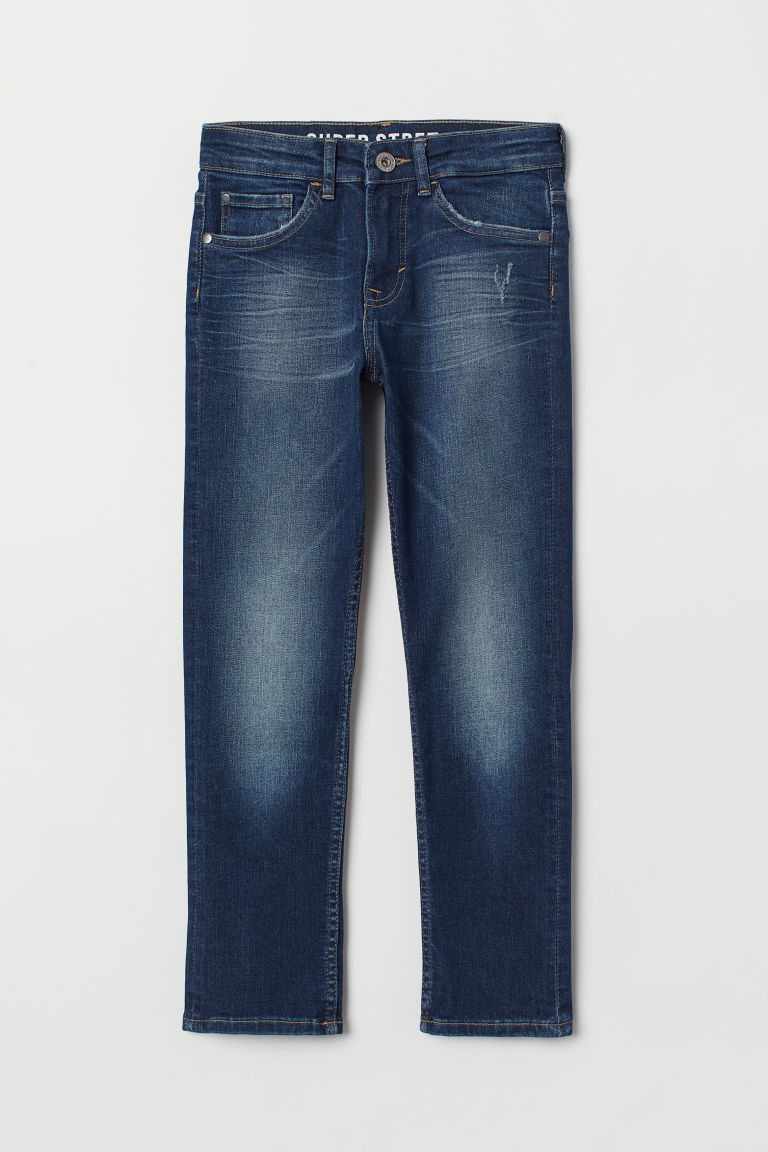 Superstretch Slim Fit Jeans - Dark denim blue - Kids | H&M IE