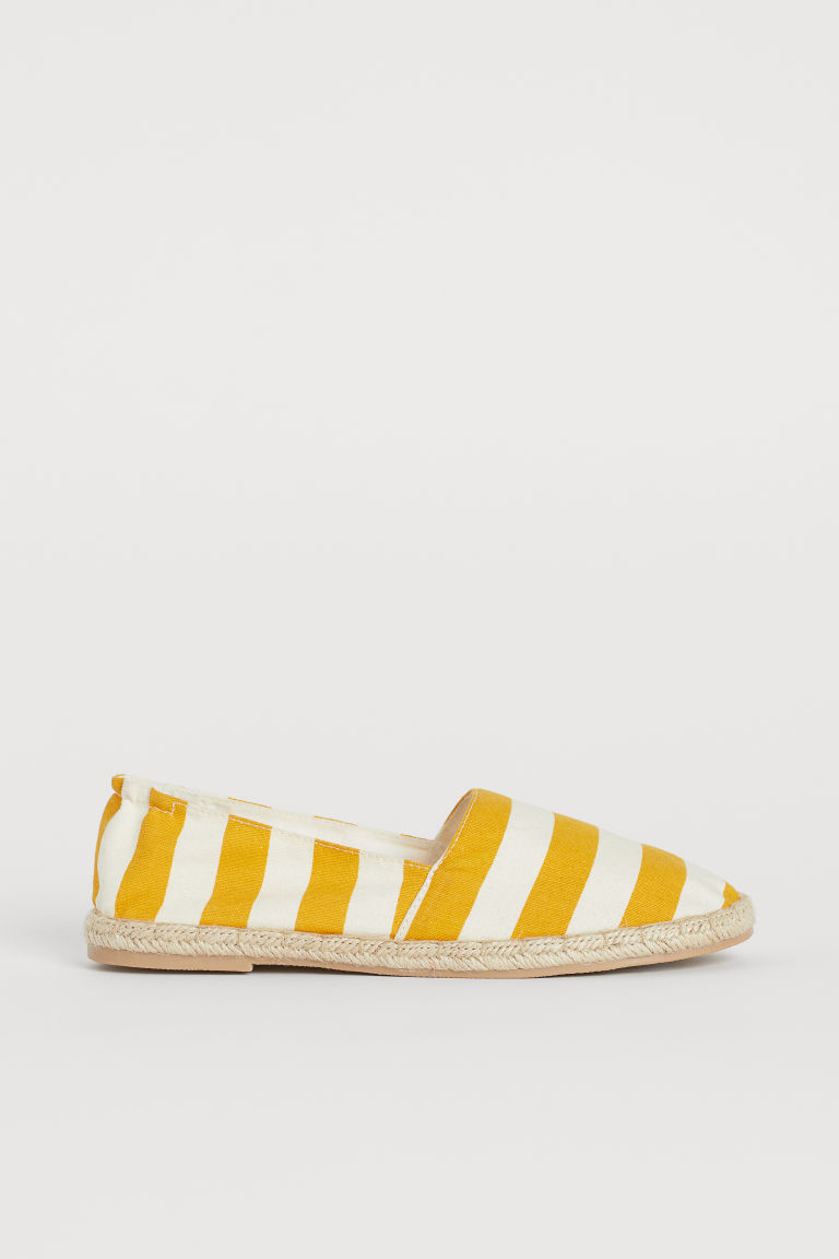 Espadrilles - Yellow/white striped -  | H&M CA