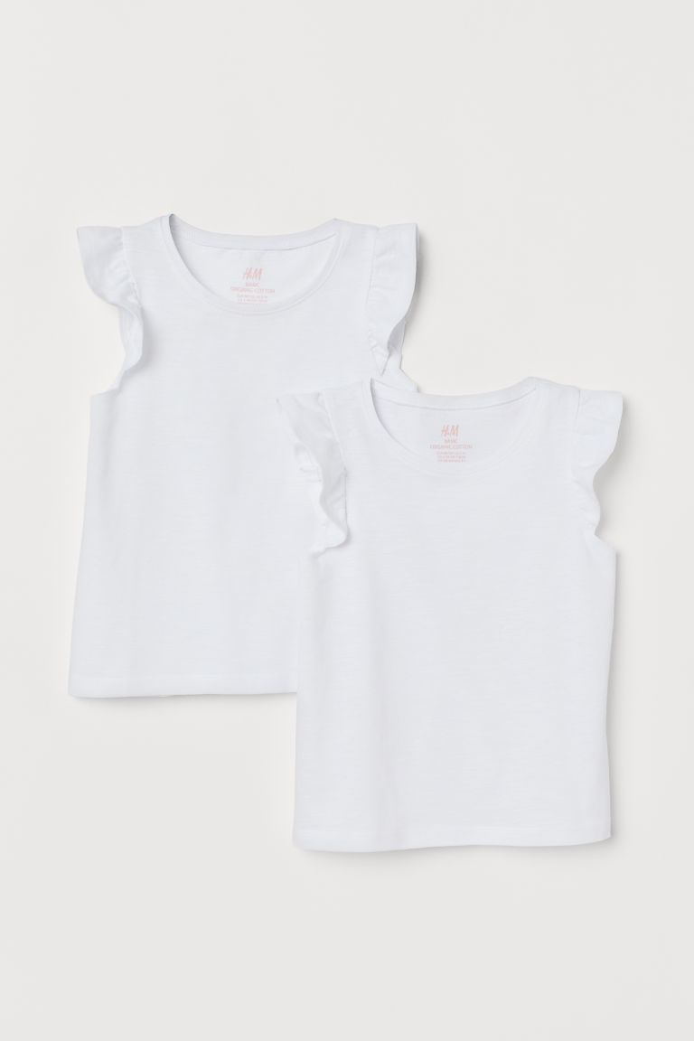2-pack flounced tops - White - Kids | H&M