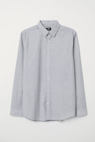 Camicia easy-iron Slim fit - Grigio scuro - UOMO | H&M IT