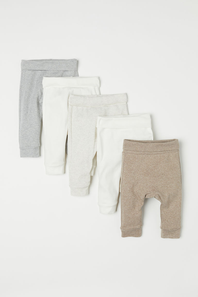 Leggings, lot de 5 - Beige clair chiné - ENFANT | H&M FR