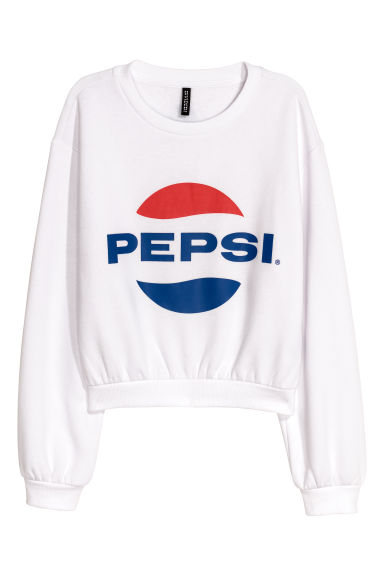Printed sweatshirt - White/Pepsi -  | H&M GB
