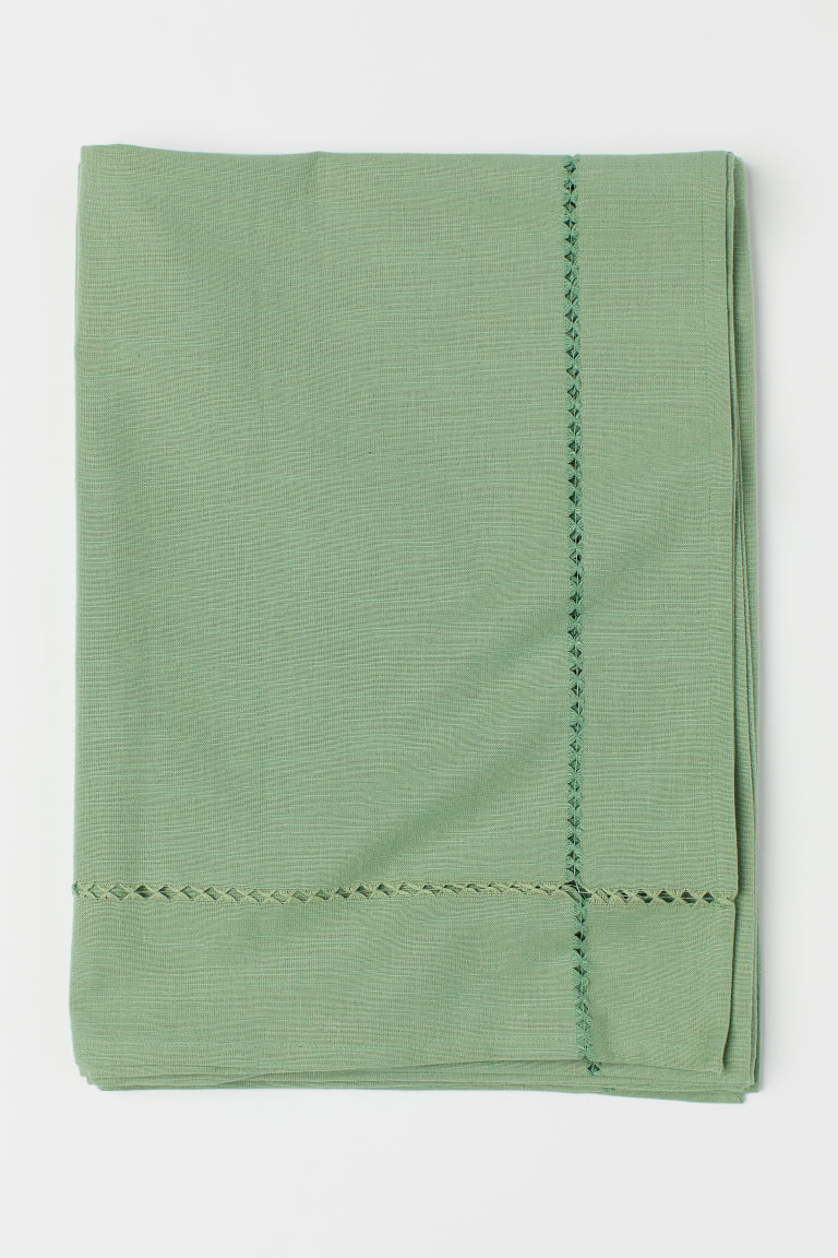 Cotton tablecloth - Green - Home All | H&M GB