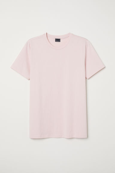 Premium cotton T-shirt - Pink - Men | H&M CN