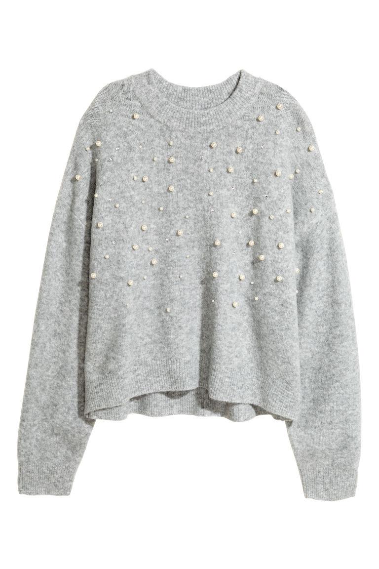 buy popular 845c4 9c7a9 Pullover in maglia con perline