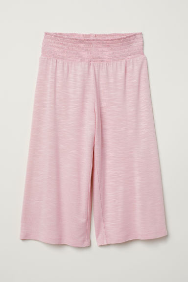 Viscose trousers with smocking - Light pink - Kids | H&M CN