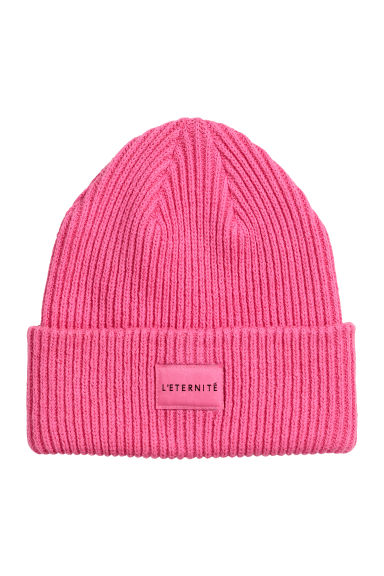 Ribbed hat - Pink - Ladies | H&M GB
