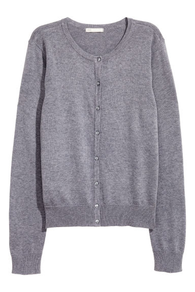 Cotton cardigan - Purple marl -  | H&M IE