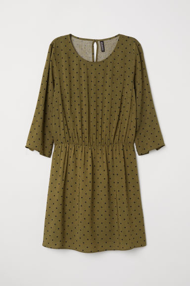 Short dress - Dark green/Spotted -  | H&M CN