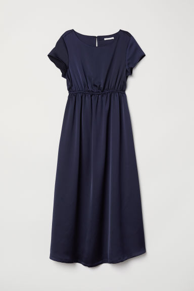 MAMA Short-sleeved dress - Dark blue - Ladies | H&M