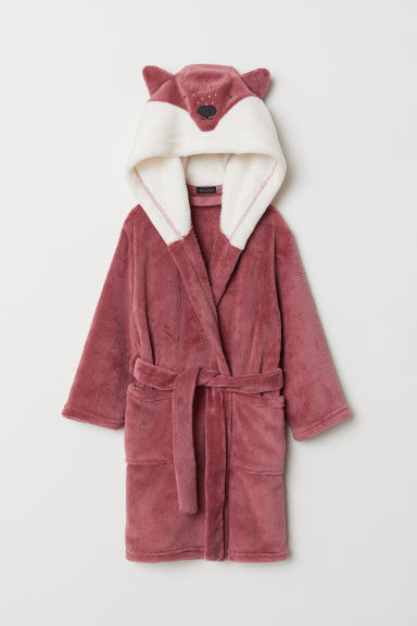 Dressing gown - Dark pink/Fox - Home All | H&M CN
