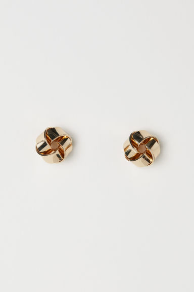 Stud earrings - Gold-coloured - Ladies | H&M CN