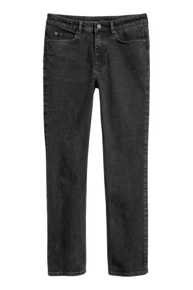 Slim Ankle Jeans - Black washed out -  | H&M