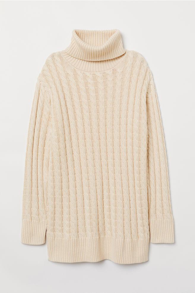 ab4031e4c68 Cable-knit Turtleneck Sweater