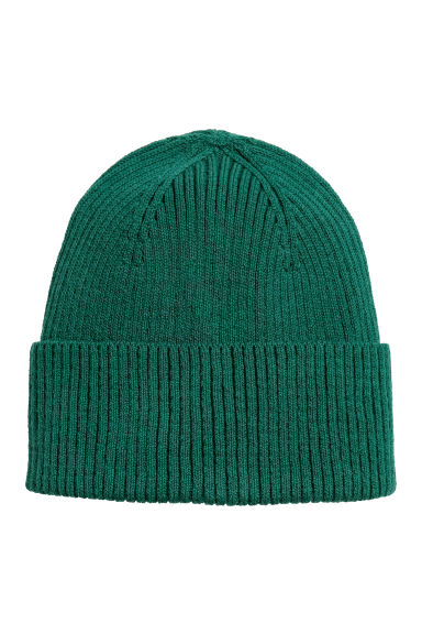 Ribbed hat - Dark green - Men | H&M
