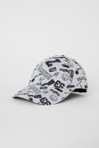 Patterned cap - Light grey/Patterned - Kids | H&M CN
