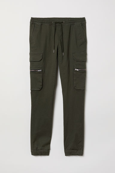 Cargo trousers - Dark khaki green - Men | H&M CN