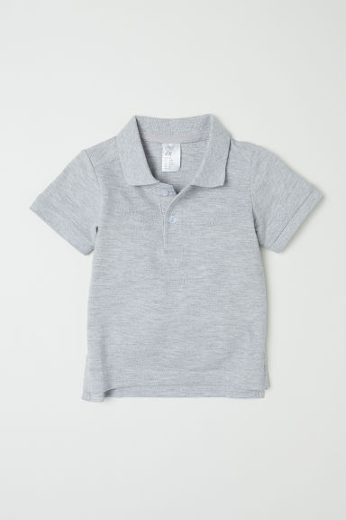 Polo shirt - Light grey marl - Kids | H&M