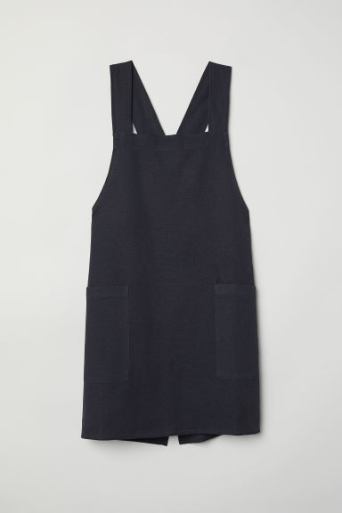 Linen-blend apron - Anthracite grey - Home All | H&M CN