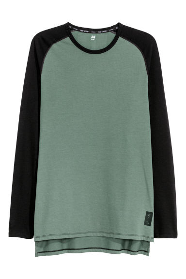 Sports top - Khaki green/Black - Men | H&M