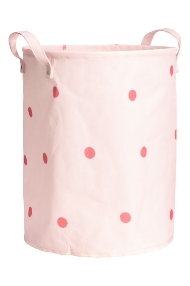 Storage basket - Light pink/Red spotted -  | H&M IE