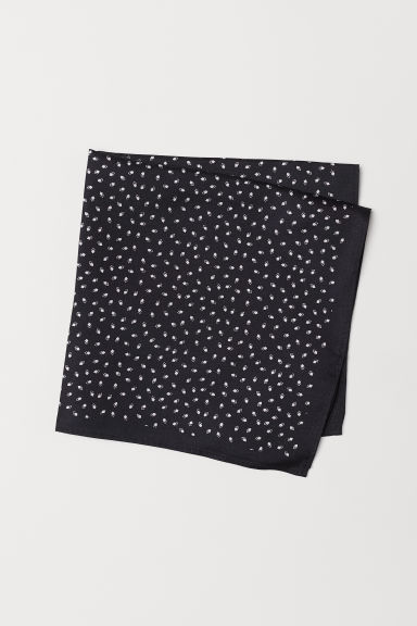 Silk handkerchief - Black/Patterned - Men | H&M