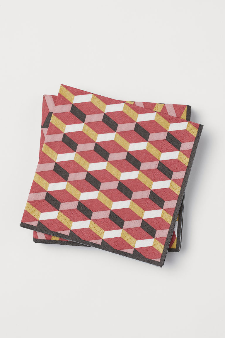20-pack Paper Napkins - Red/patterned - Home All | H&M US
