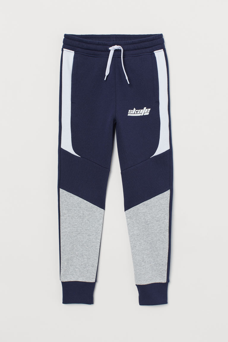 Joggers - Dark blue/color-block - Kids | H&M US