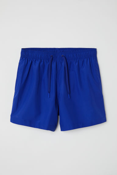 Swim shorts with side stripes - Cobalt blue - Men | H&M