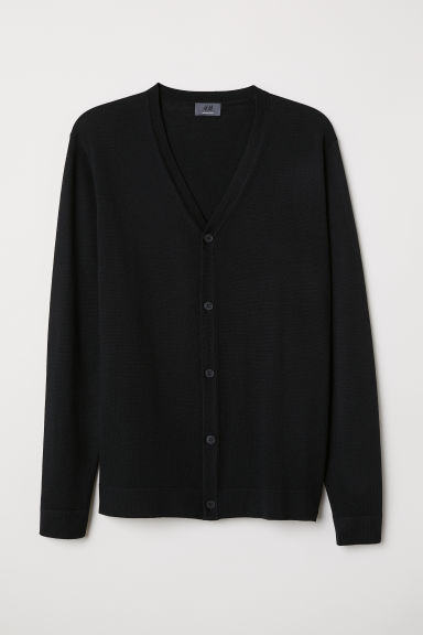 Merino wool cardigan - Black -  | H&M