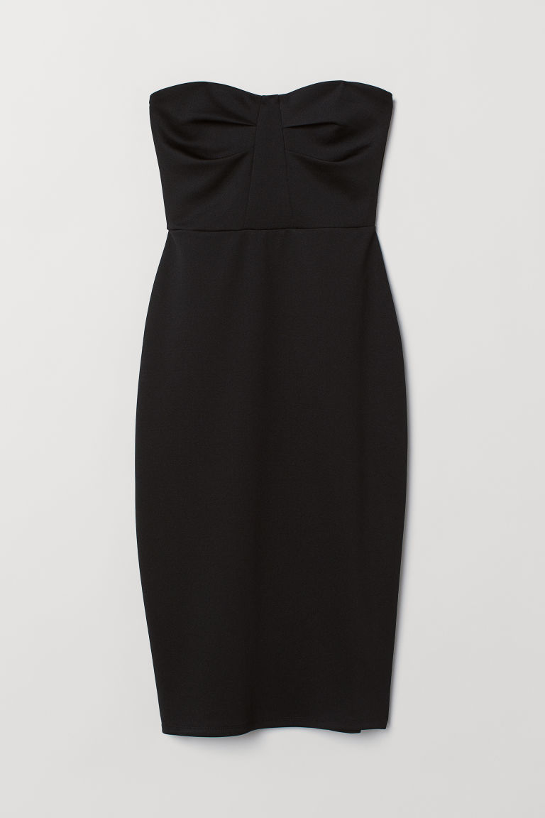 Abito a bandeau - Black - DONNA | H&M IT