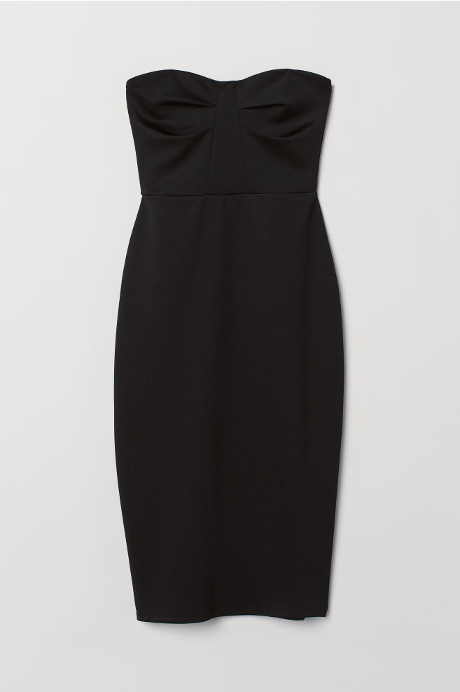 eec09ec3215b ... Bandeau-kjole - Sort - DAME
