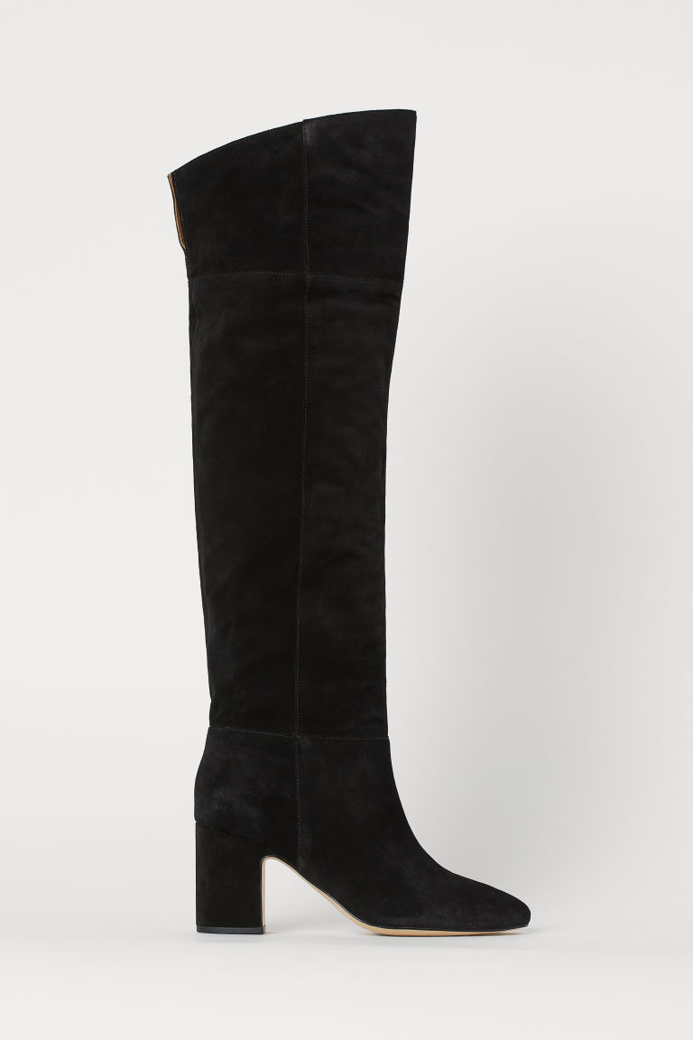 how to get great variety models fair price Suede Knee-high Boots